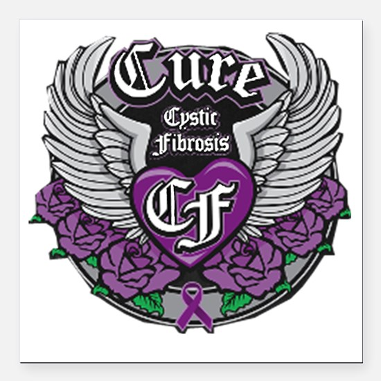 "Cure CF Square Car Magnet 3"" x 3"""