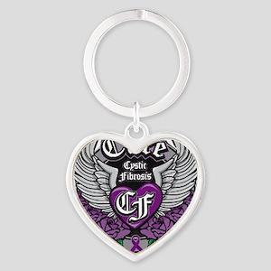 Cure CF Heart Keychain