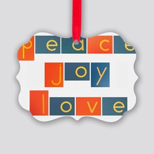peacelovejoyflat Picture Ornament