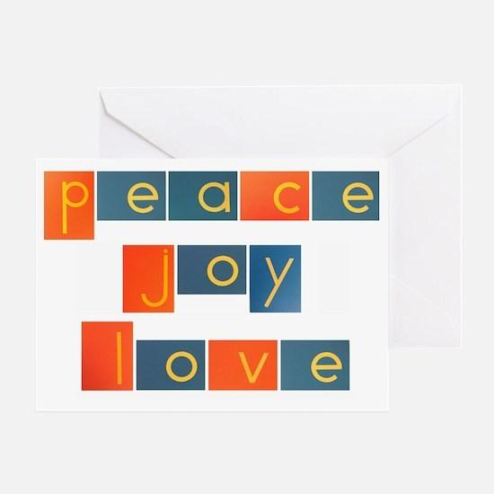 peacelovejoyflat Greeting Card