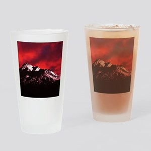 (12) Shasta Red Cloud Drinking Glass