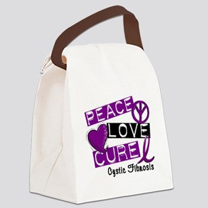 PeaceLoveCure Canvas Lunch Bag