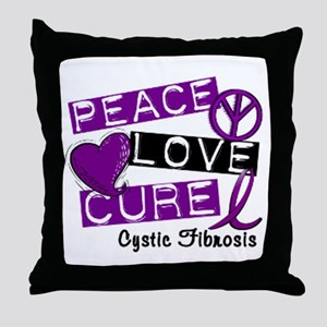 PeaceLoveCure Throw Pillow