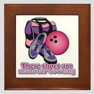 BowlingShoes Framed Tile