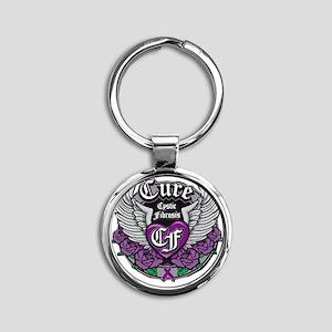 Cure CF Round Keychain