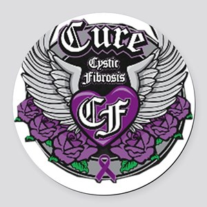 Cure CF Round Car Magnet