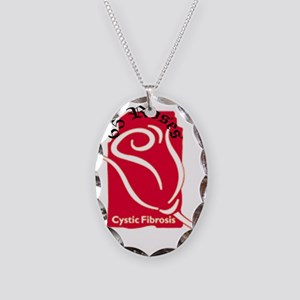 Rose Necklace Oval Charm