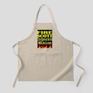 Fire Scott Corporate Minion tshirt Apron