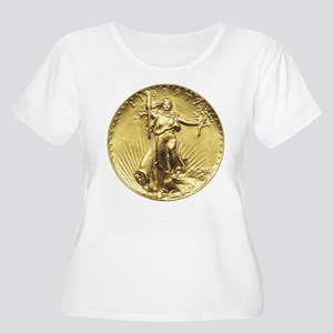 Liberty Gold Coin Plus Size T-Shirt