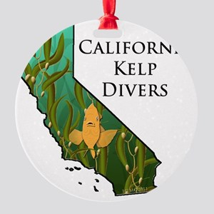 California Kelp Divers Round Ornament