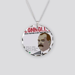 James Connolly quote on Whit Necklace Circle Charm