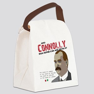 James Connolly quote on White Canvas Lunch Bag