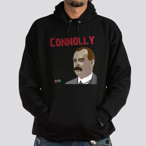 James Connolly quote on White Hoodie (dark)