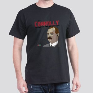 James Connolly quote on White Dark T-Shirt