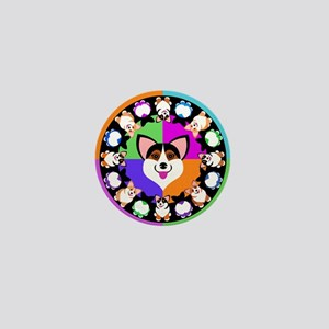 Corgis for blk T Mini Button