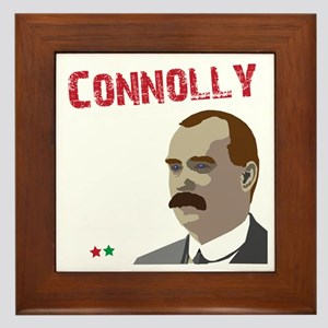 James Connolly quote on black Framed Tile