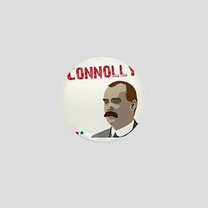 James Connolly quote on black Mini Button