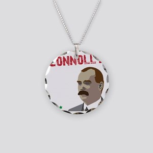 James Connolly quote on blac Necklace Circle Charm