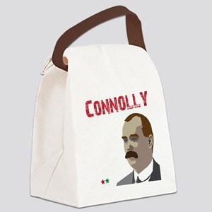 James Connolly quote on black Canvas Lunch Bag