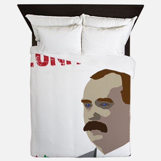 James Connolly quote on black Queen Duvet