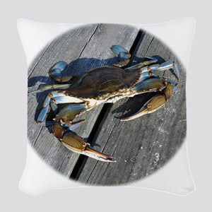 crabonly Woven Throw Pillow