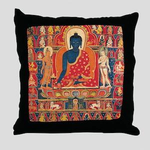 buddhablue Throw Pillow