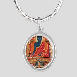 buddhablue Silver Oval Necklace