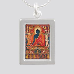 buddhablue Silver Portrait Necklace