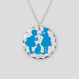 Tasting Silhouette Necklace Circle Charm