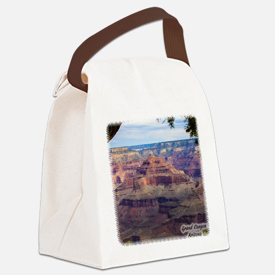 Grand Canyon View Canvas Lunch Bag