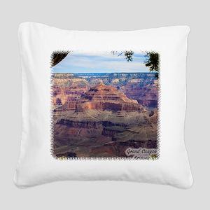 Grand Canyon View Square Canvas Pillow
