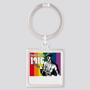 1916 Easter Rising 10x10 dark Square Keychain