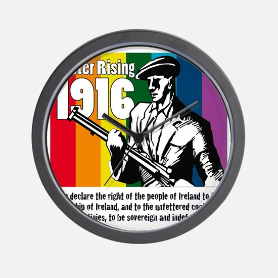 1916 Easter Rising 10x10 white Wall Clock