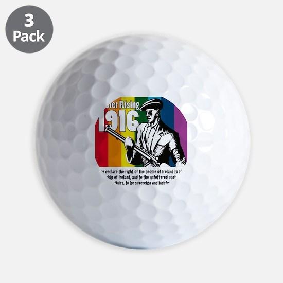 1916 Easter Rising 10x10 white Golf Ball