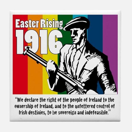 1916 Easter Rising 10x10 white Tile Coaster