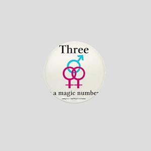 threepinkblue Mini Button