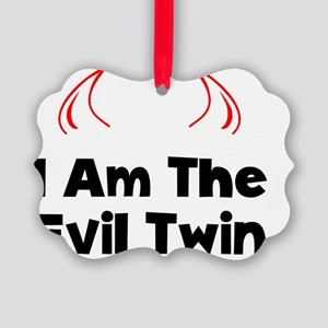 Evil Twin Black Picture Ornament