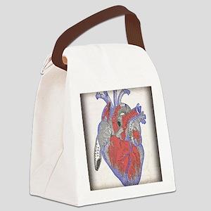 heart-vintage copy Canvas Lunch Bag