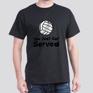 Volleyball Served Black Dark T-Shirt