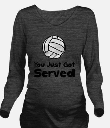 Volleyball Served Bl Long Sleeve Maternity T-Shirt