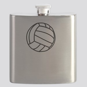 Volleyball Served White Flask
