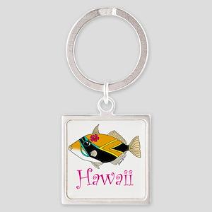 hawaiiart 002 Square Keychain