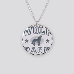 The Wolfpack Necklace Circle Charm