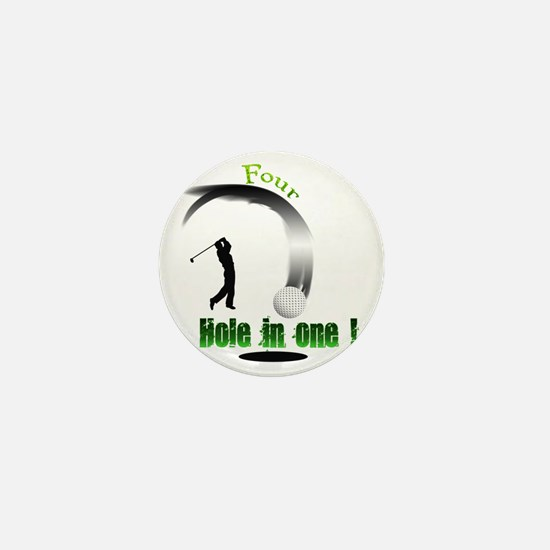 Four Hole in one Golf Mini Button