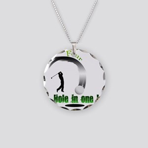 Four Hole in one Golf Necklace Circle Charm