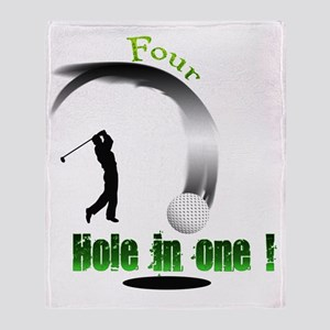 Four Hole in one Golf Throw Blanket