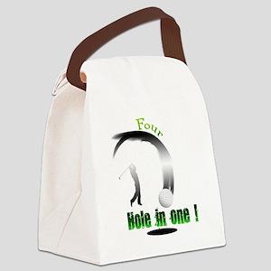 Four Hole in one Golf Dark Canvas Lunch Bag
