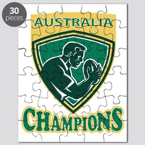Rugby player Australia Champions shield Puzzle