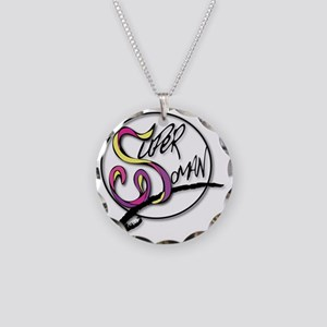 TheSuperWomanLogo Necklace Circle Charm