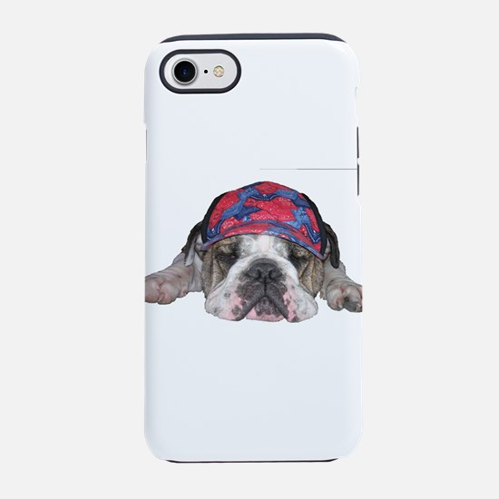 Bulldog with a hat iPhone 7 Tough Case